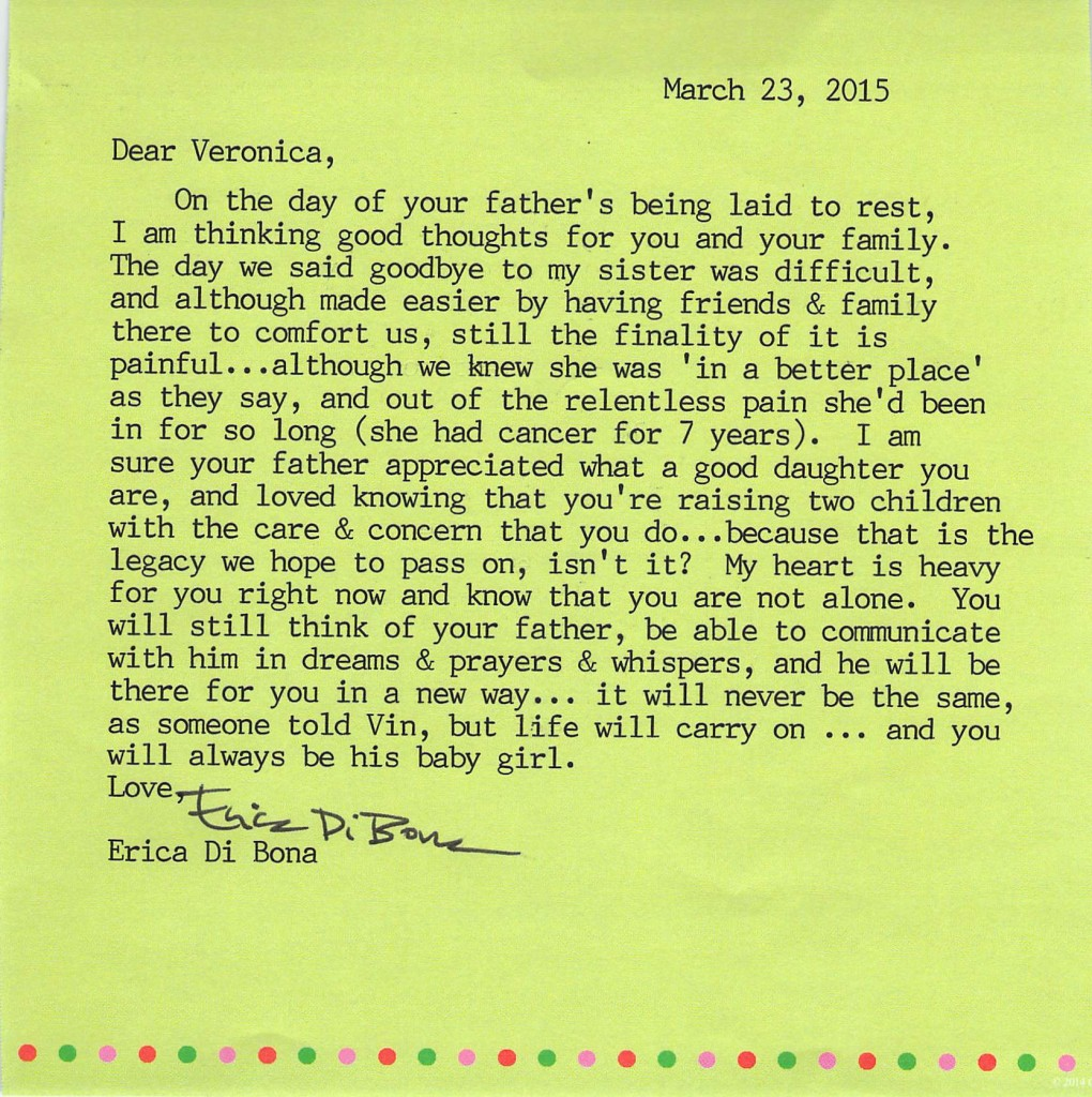 Letter to Veronica