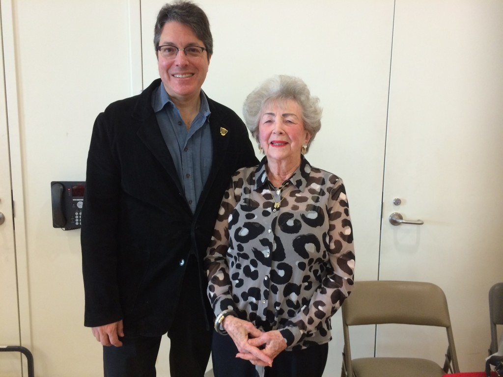 Gloria with Beverly Hills Vice-Mayor John Mirisch